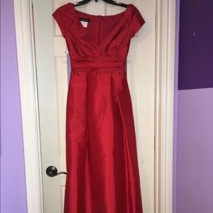 Red Alfred Sung Prom Dress